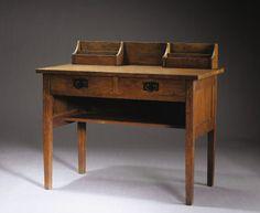 GUSTAV STICKLEY   An Oak Writing Desk, model no. 453, circa 1902