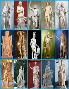 Can you name the Greek Gods and Goddesses by their statue?