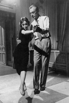 Audrey Hepburn dances - and leads - with Gary Cooper on the set of Love In The Afternoon,