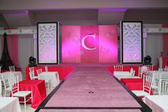 Runway/Stage set-up #fashionshowparty #barbieparty