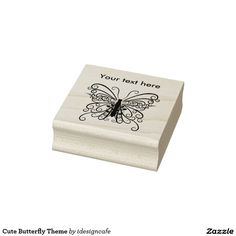 Cute Butterfly Theme Rubber stamp for arts craft