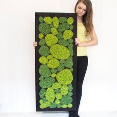 Vypletané machy 120 x 50 Moss Art, How To Make