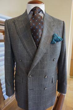 Flannel suit from Manuel Martinez Custom Clothier. #batonrouge