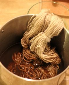 Done this with tea - Natural Dying: dye yarn with coffee