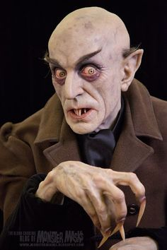 max schreck as count orlok sculpted by mike hill.