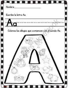 La ropa spanish worksheets and spanish lessons coloreando los sonidos iniciales from thebilingualspot on teachersnotebook 30 pages beginning sound worksheets for children to practice the letter spiritdancerdesigns