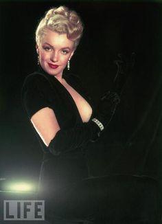 Marilyn in Black Velvet, Circa 1950