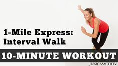 1 Mile Express Interval Walk - Low Impact Cardio You Can Do At Home In A...