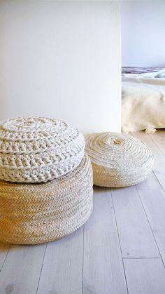 Plancher coussin Crochet coton épais Ecru par lacasadecoto, €65.00