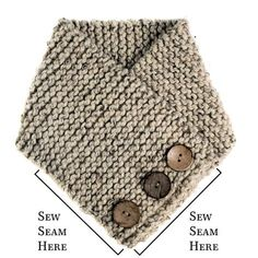 TRUST : Scarf Cowl Knitting Pattern – Brome Fields The Effective Pictures We Offer You About Crochet scarf A quality picture can tell you many. Diy Crafts Knitting, Loom Knitting, Hand Knitting, Knitting Needles, Beginner Knitting Patterns, Knit Patterns, Knitting For Beginners, Ribbed Crochet, Crochet Stitch
