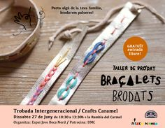misako mimoko: Taller GRATUITO de Pulseras Bordadas / Crafts Caramel