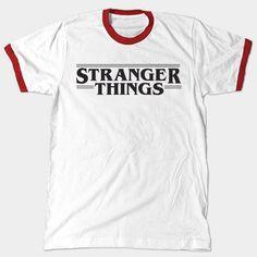 Stranger Things Shirt- Ringer Tee by FanThreads on Etsy https://www.etsy.com/listing/454734262/stranger-things-shirt-ringer-tee