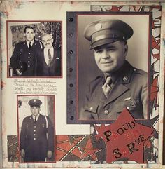 Family Heritage Scrapbook layout example Honoring Ancestors in the Military
