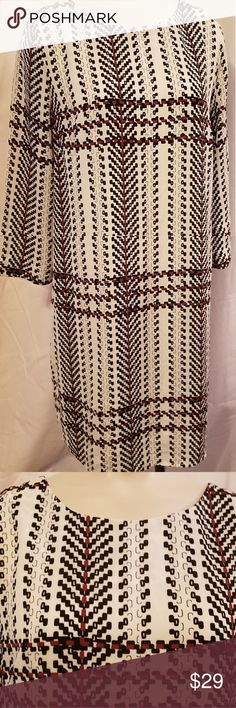 Bar III XS Dress Bar III Size XS Womens NEW Black, White, Red Dress. NWT. 3/4 length sleeve. Beautiful for yourself or as a gift.  25 inches from underarm to hem line. Bar III Dresses