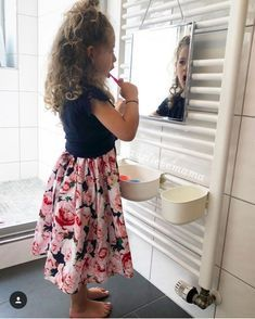 Montessori bathroom for children - IKEA hacks - Frida - Ikea Montessori, Ikea Hacks, Ikea Hack Kids, Childrens Bathroom, Bathroom Kids, Bathroom Cost, Master Bathroom, Ikea Molger, Ikea Hack Bathroom