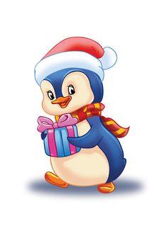 Cartoon Birds, Penguin Art, Christmas Light Displays, Christmas Stencils, Christmas Rock, Christmas Graphics, Cute Clipart, Christmas Characters, Animated Cartoons