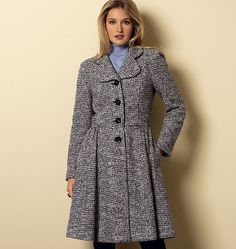 Misses' Jacket  new coat by Butterick kinda cute if I can make it at least calf lenth love the full back and the rounded lapels are cute too might pick it up on sale