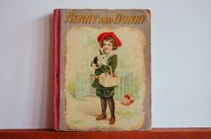 RARE Antique Children's Book, Benny and Bunny, Collectible Book, Rare Book, 1800s Illustrated Storybook, Pet and Pastime Series, Engravings - SOLD! :)