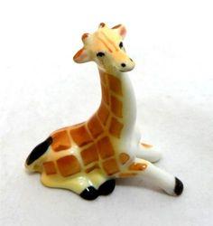 Vintage Exquisite Japanese Japan Porcelain Miniature Baby Giraffe Ceramic Figurine 1960s - starting on ebay at £0.99