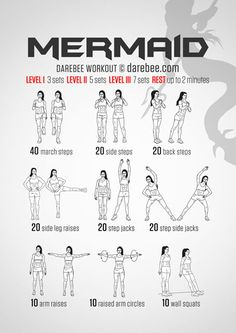 Mermaid Workout : love these workouts they look to be fun and hopefully not murder on a beginner
