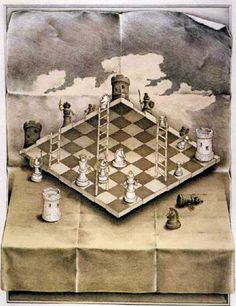 Chessboard by MC Escher http://mrmartins.wordpress.com/2010/07/13/chess-moves-making-next-moves-best-moves-80s-action-films/