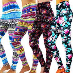 Fashion Women's Pattern Print Stretch Leggings Tights Pants New 04 Styles Color Print Leggings, Women's Leggings, Tights, Pattern Print, Print Patterns, Color Patterns, Best Deals, Womens Fashion, Sexy