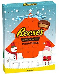 A Reese's Pieces Advent Calendar.  Surely this is the holy grail of all Advent Calendars!  https://www.unicornsandmoonbeams.com/product-category/today-i-am-going-to-be-mother-christmas/