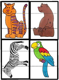 is part of Animal puzzles - Sensory Activities, Learning Activities, Preschool Activities, Kids Learning, Puzzles, Tier Puzzle, Animal Crafts, Zoo Animals, Kids Education