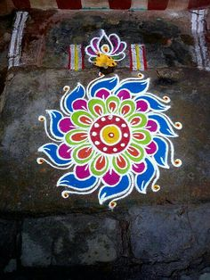 Easy Rangoli Designs Videos, Simple Rangoli Designs Images, Rangoli Designs Latest, Rangoli Designs Flower, Rangoli Border Designs, Rangoli Ideas, Rangoli Designs With Dots, Rangoli Designs Diwali, Beautiful Rangoli Designs