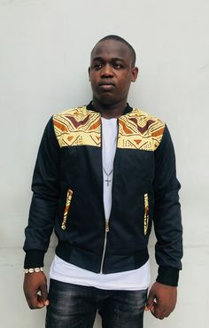 African Attire, African Wear, African Dress, Modern African Clothing, African Men Fashion, Printed Bomber Jacket, Bomber Jackets, African Shirts For Men, Ankara Styles For Men