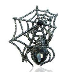EVER FAITH Black-Tone Spider Web Teardrop Brooch Austrian Crystal Black Halloween http://www.amazon.com/dp/B00AFCKJ2W/ref=cm_sw_r_pi_dp_zqiUvb1Q8PCQG