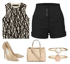 """Sin título #501"" by foxessx ❤ liked on Polyvore featuring Proenza Schouler, LE3NO, Michael Kors and Accessorize"