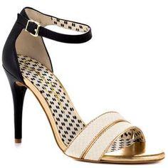 Jessica Simpson 'Jessies' Jasmine Black Snake Embossed Leather Two-Piece Sandal