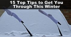 Living in the snow can be a challenge if you're not used to it.  Here are 15 tips to get you through the winter! #UofUprt #UtahParksRecTourism