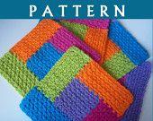 Crochet Pattern--Simply Square Log Cabin Dishcloth