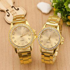 $4.67 (Buy here: https://alitems.com/g/1e8d114494ebda23ff8b16525dc3e8/?i=5&ulp=https%3A%2F%2Fwww.aliexpress.com%2Fitem%2F2015-Luxury-Gold-Crystal-Bling-Full-Stainless-Steel-Quartz-Analog-Wristwatch-Watch-Clock-Gift-for-Women%2F32315282624.html ) 2016 Luxury Gold Crystal Bling Full Stainless Steel Quartz Analog Wristwatch Watch Clock Gift for Women Girls Men Couple Lovers for just $4.67