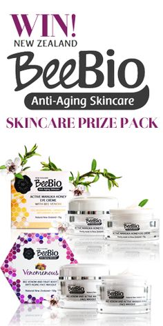 #WIN 1 of 2 BeeBio #Skincare Prize Packs! #competition