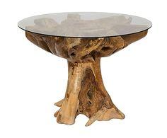 Mesa de comedor en madera de teca Root - natural
