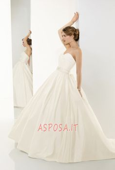 Abito da Sposa Cuore Non Specificato Fiocco Puffy Naturale - Pagina 1  Sweetheart Wedding Dress dd6e3af50680