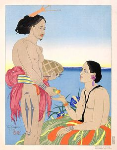 Amoreux A Tarang Yap. 1935 Ouest Carolines by Paul Jacoulet http://www.angelfire.com/poetry/ofthespirit/page30.html