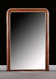 French Antique Louis Philippe Period Mirror with Original Mercury Glass, circa 1880