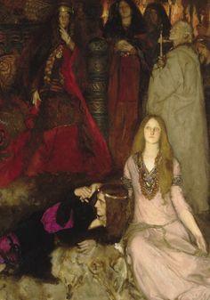 "hellfreeway: "" ""The Play Scene in Hamlet"" by Edwin Austin Abbey, 1897 (detail) "" John Everett Millais, Pre Raphaelite, Wow Art, Art Deco, Classical Art, Renaissance Art, Art Blog, Sculpture, Art History"