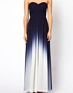 Image 3 of Coast Sheena Maxi Dress in Dip Dye