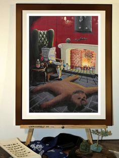"Poster 11""x17"" - Print from my star wars painting ""Boba Fett'a living room"" with Chewbacca rug on Etsy, $18.00"