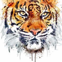 Tiger Face Close-up Art Print by MarianVoicu - X-Small Close Up Art, Tiger Face, Bengal Tiger, Siberian Tiger, Fine Art Prints, Canvas Prints, Wood Wall Art, Pillow Shams, Throw Pillow