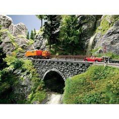 Achtobel-Brücke aus Struktur-Hartschaum, für die Modelleisenbahn, Spur H0
