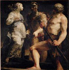 "Giuseppe Maria Crespi "" Aeneas, the Sibyl and Charon"""