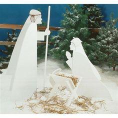 Woodcraft pattern for DIY Nativity yard scene