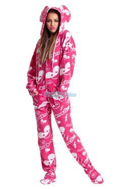 a5341e587e Pajamas Footie PJs Onesuit One Piece Adult Pajamas