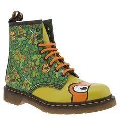 Dr Martens Green Ninja Turtles Michelangelo Womens Boots